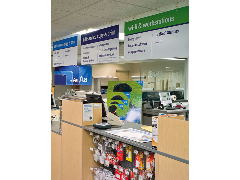 Retail Hanging In-Store Signage