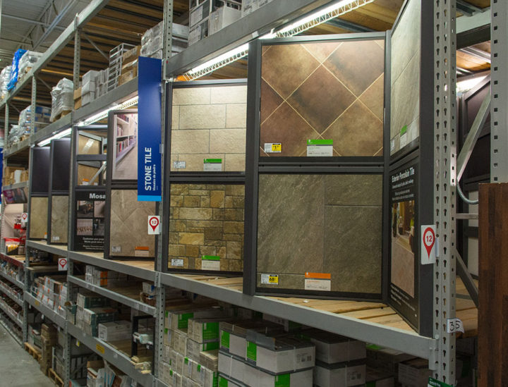 Retail Fixtures with Printed Panels